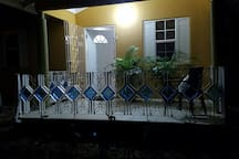 Night view of the patio