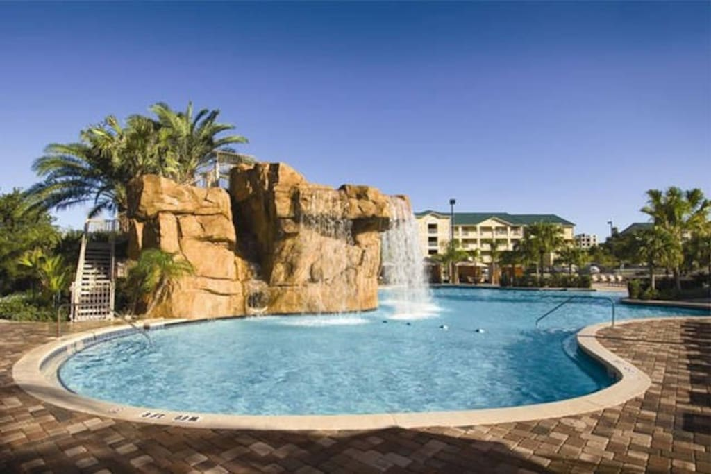Resort pool to enjoy during your stay