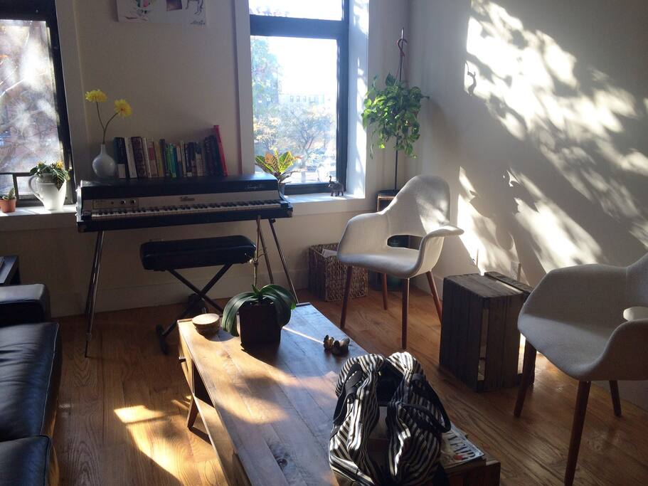 very sunny living room!
