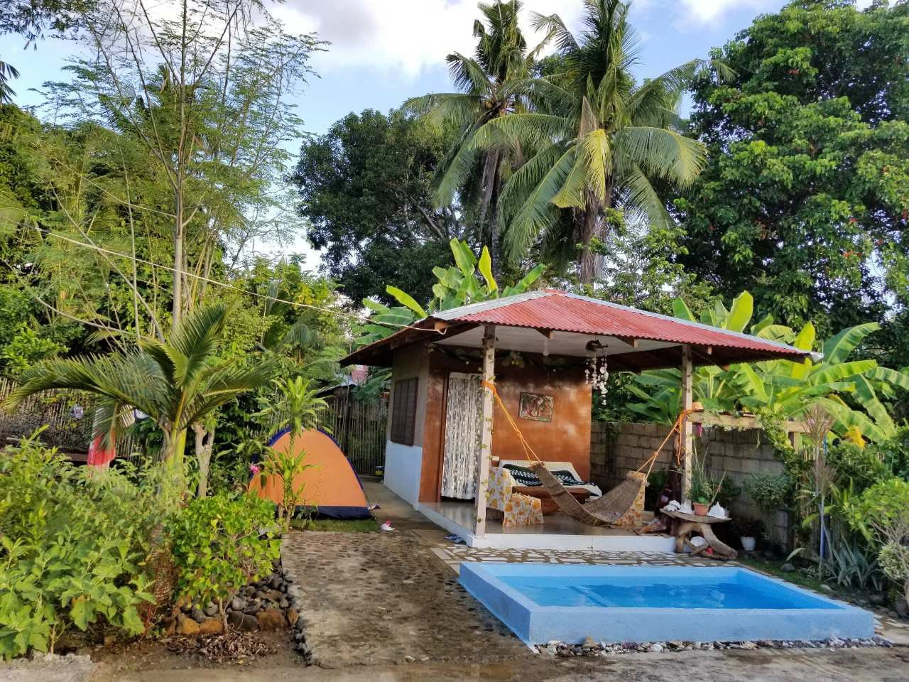 Sitting pool and cottage