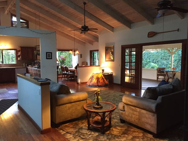 Private Tropical Retreat Home Sweet Home - kilauea - Casa