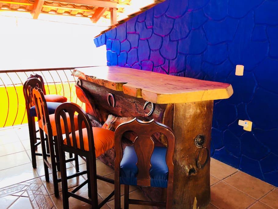 Bar en la sala de juegos