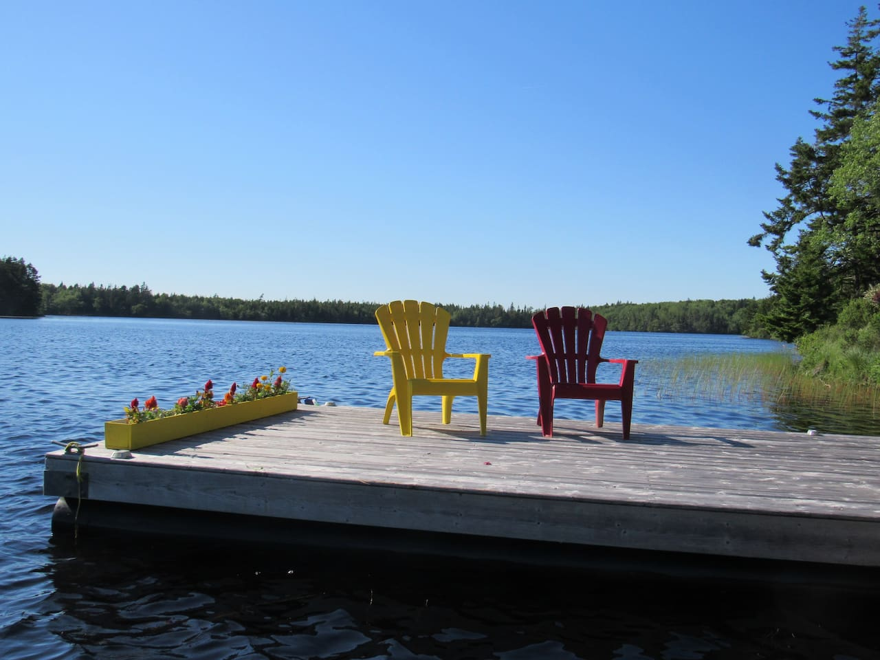 Access to a quiet lake with kayaks or canoe and two bicycles available for exploring.