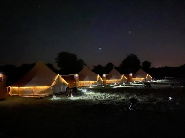 Plum Pudding Bell Tent - Glamp @ The Priory