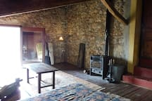The wood-burning stove