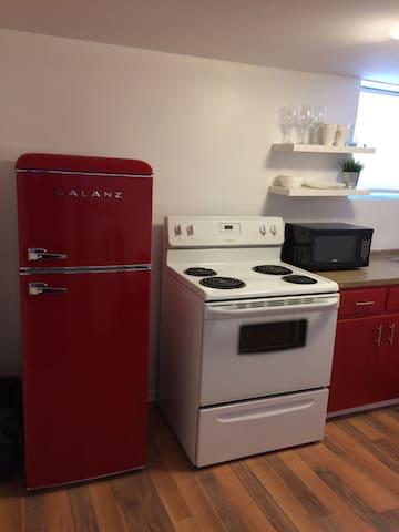 Red fridge/kitcen