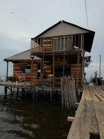 descanso la casa en el agua
