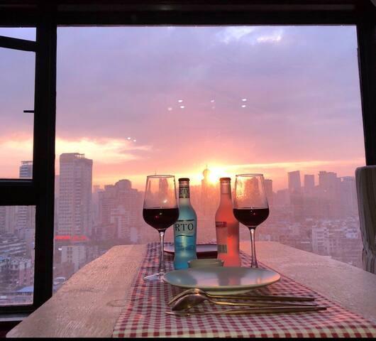 【小鹿民宿】日落观景loft 师大近省医