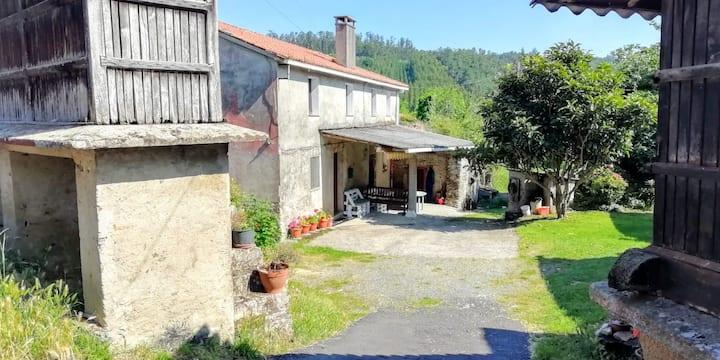 Casa típica del rural gallego