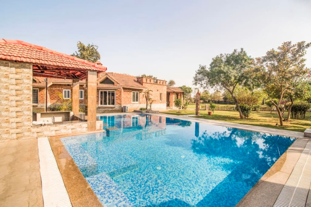 Swimming Pool with Villa