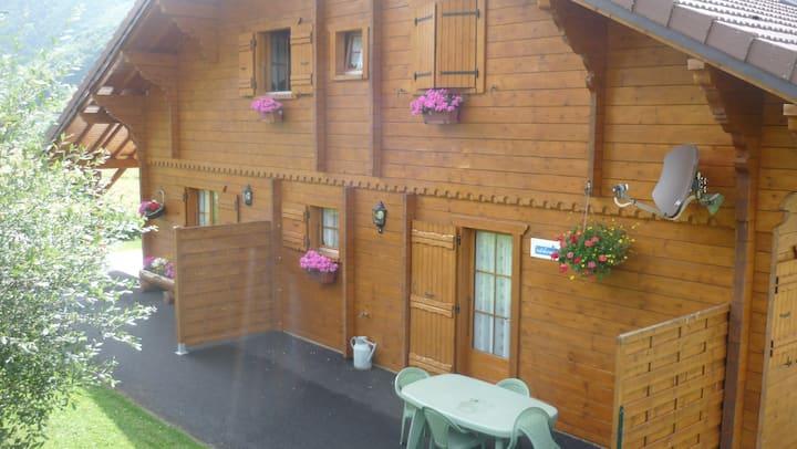 Lélex,appartement dans chalet, piscine couverte