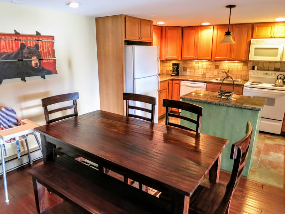 Open Kitchen, Living, and Dining
