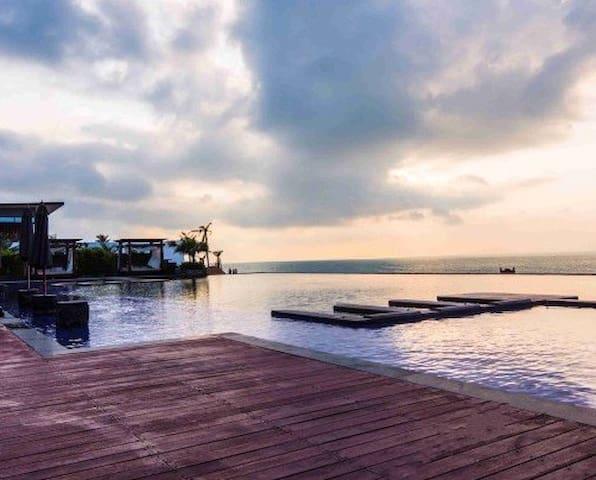 犒劳自己和家人! 楼下就是沙滩,超靓外海风景的超5星级檀悦豪生温泉度假酒店高层公寓 - Huizhou Shi - Boetiekhotel