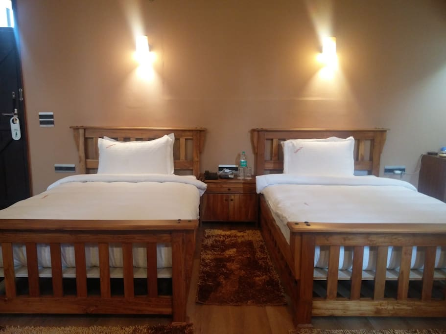 Room for two with twin beds