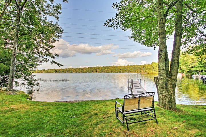 Lyman Home on Swan Pond w/Large Deck & 40-ft Dock!