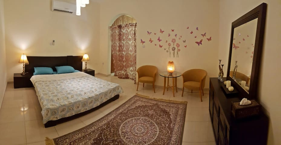 Private suite in the Oasis town