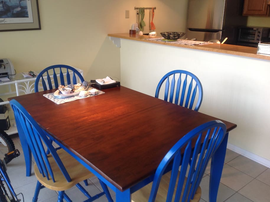 Dining room in harmony  with kitchen