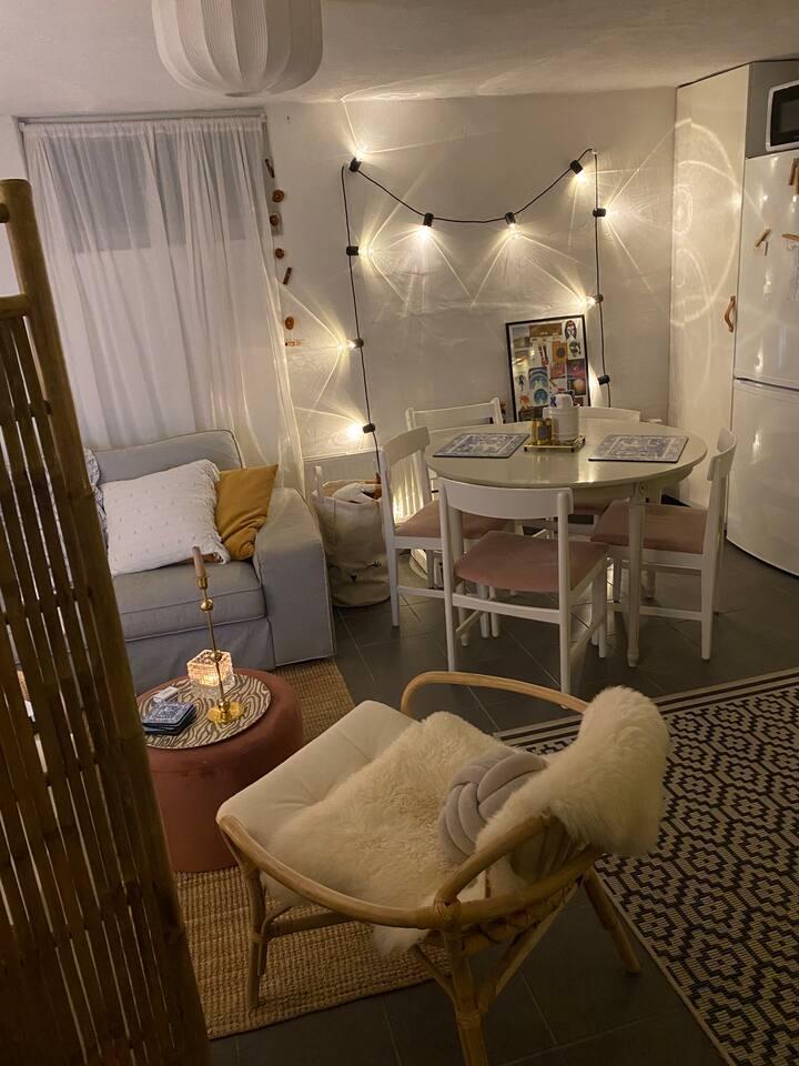 Charmig lägenhet med bra läge