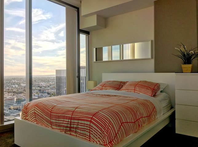 Luxury bedroom with an LA view