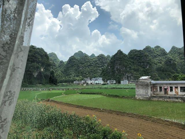 南山南客栈田园观景单人房