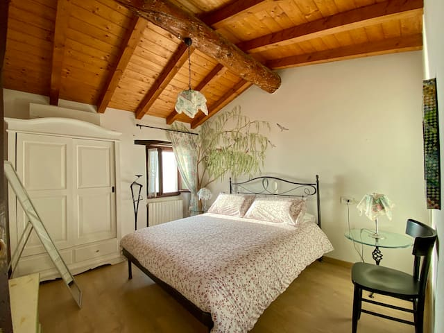 bedroom with separate entrance with lake view
