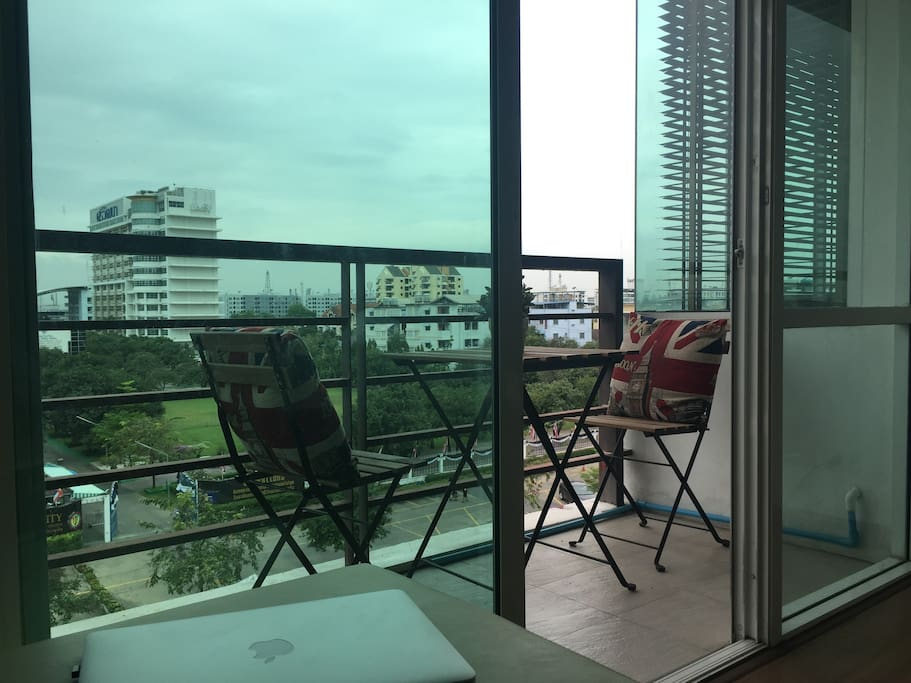 Teracce with outdoor furniture (nice yet quiet view over Bangkok)