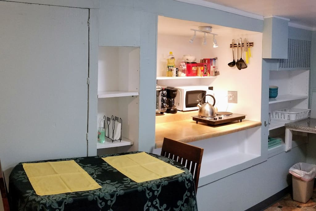 Table and Kitchenette