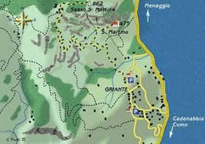 Mappa di Griante/Griante's map