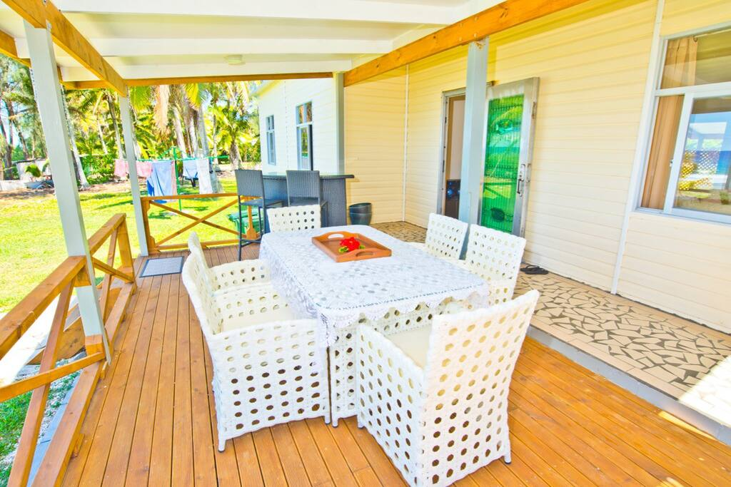 Dining on your own deck