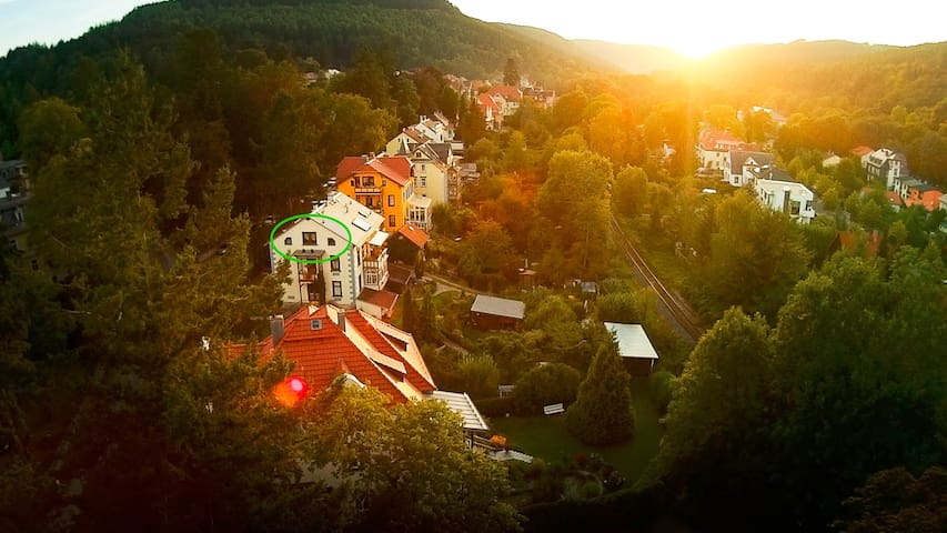 Ferienwohnung mit Ausblick im Villenviertel - Ilmenau - Apartemen