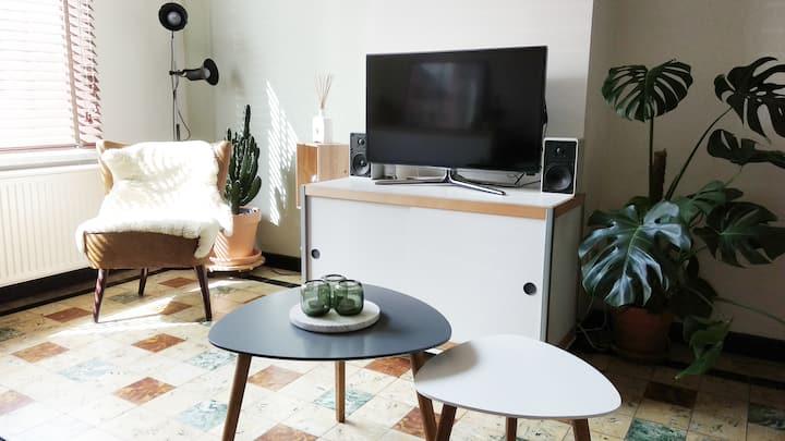 Contemporary family home with garden & 2 bikes