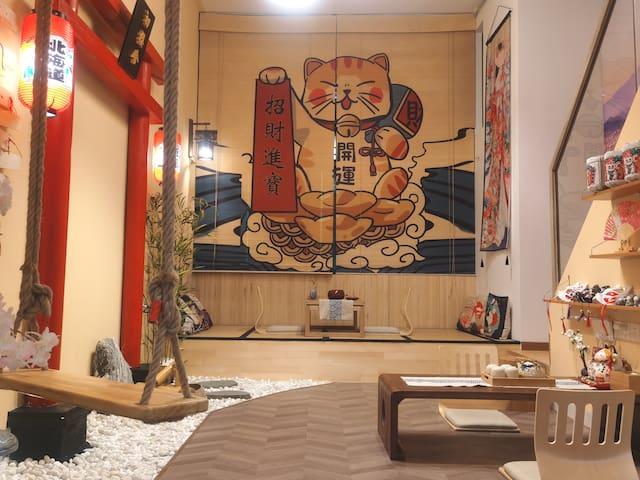 【🌸True Inn】奥园广场日式LOFT/和服换装/百寸投影/日本鸟居榻榻米/可租Switch/