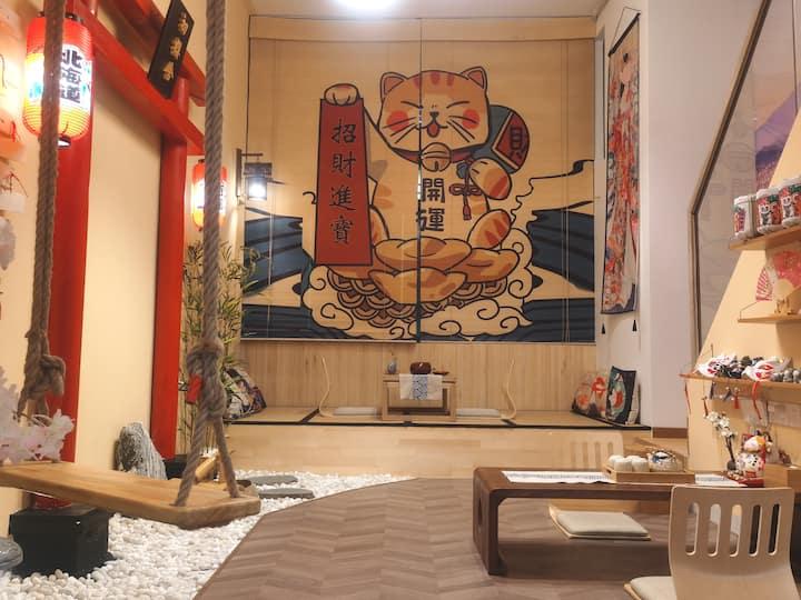 【🌸True Inn】有暖气|奥园广场日式LOFT/和服换装/百寸投影/日本鸟居榻榻米/
