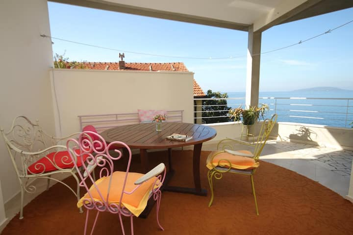 One bedroom apartment with terrace and sea view Podaca, Makarska (A-8536-a)