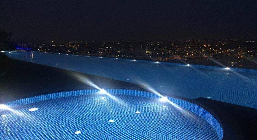 Enjoy your night swim with fantastic night view