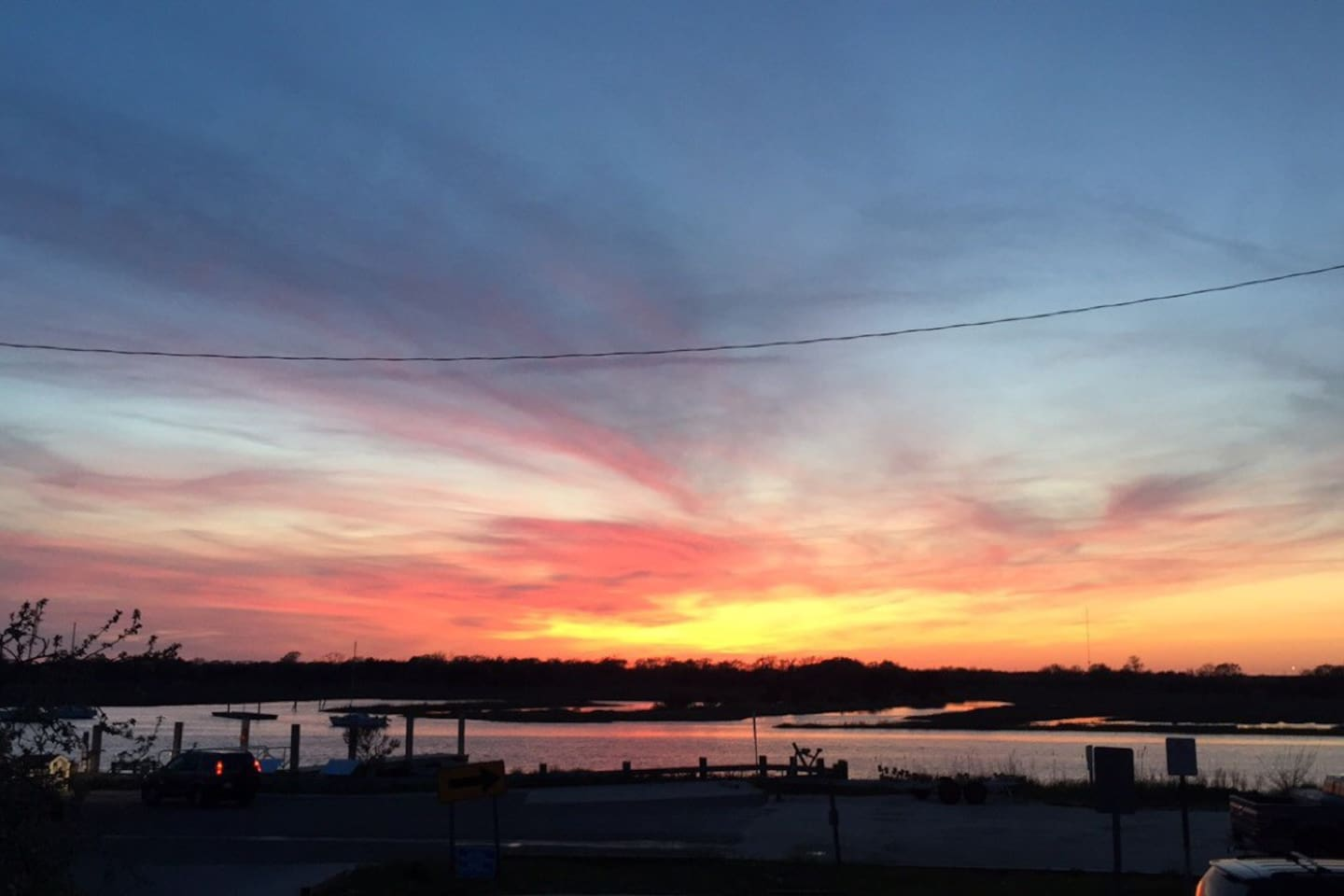 Gorgeous sunset view from the deck