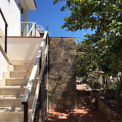 Villa with balcony+ garden at 100 m from IONIO sea
