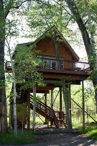 Birdsnest Treehouse #10 at Gallatin River Hideaway