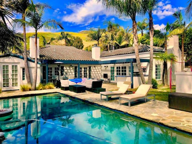 Tropical Family-Friendly Malibu Home with Pool