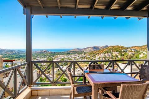 Luxury Sea View Apt with Balcony - Near Yalikavak