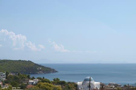 170mHouse-Full Sea viewGardenBBQAgia Marina Aegina