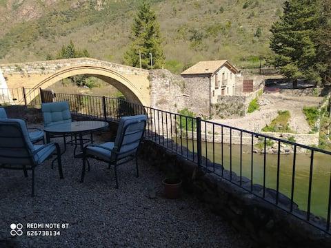 House beside Noguera Pallaresa River