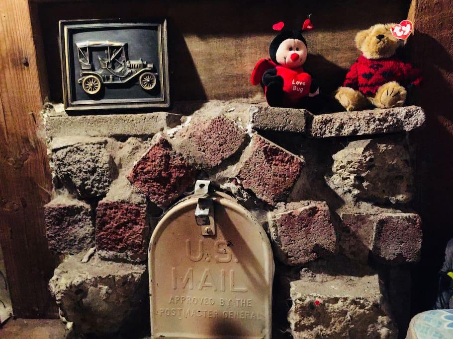 Mailbox Fireplace!