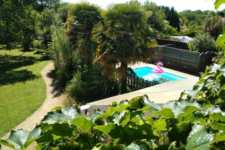 Maison avec piscine à 10 min des plages