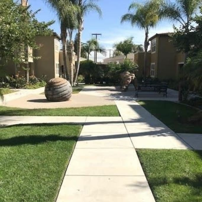 You can take a walk in the courtyard