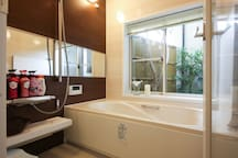 First floor  shower & bathtub