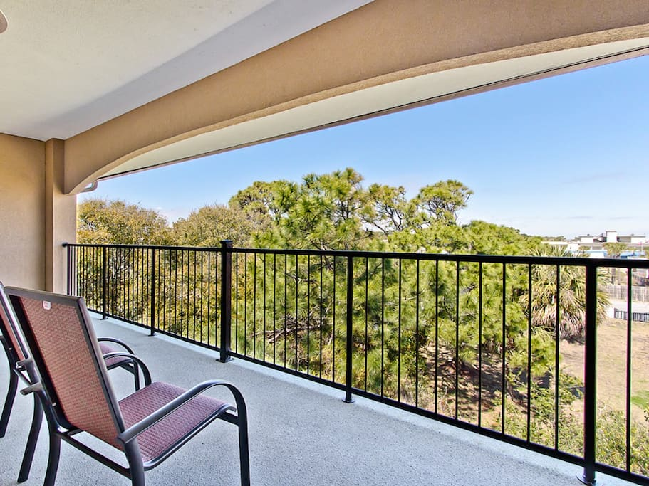 Private Furnished Balcony