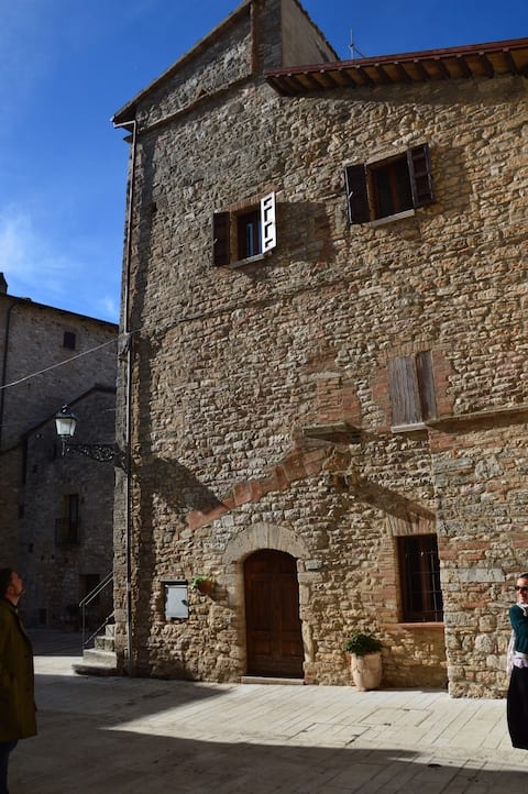 Tower in a beautiful medieval village