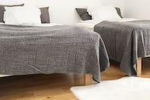 2x100cm beds in bedroom