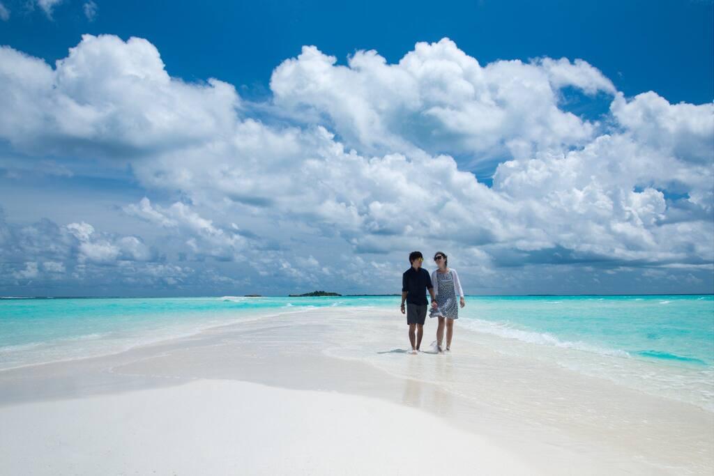 The heavenly beauty of our sandbank